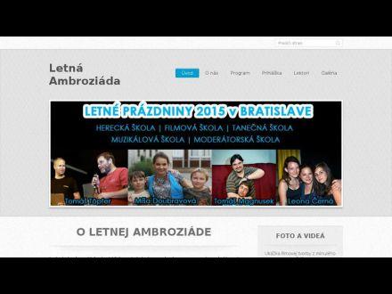 www.ambroziada.sk