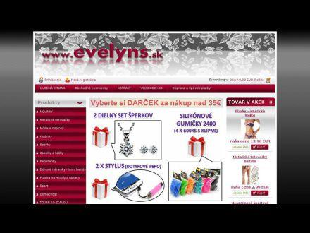 www.evelyns.sk