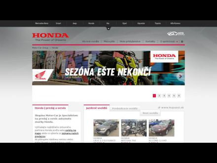 www.hondamotorcar.sk