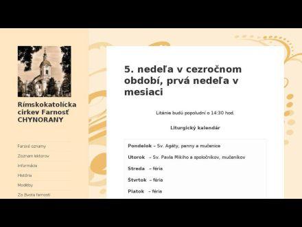 www.chynorany.fara.sk