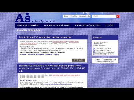 www.actoris.sk
