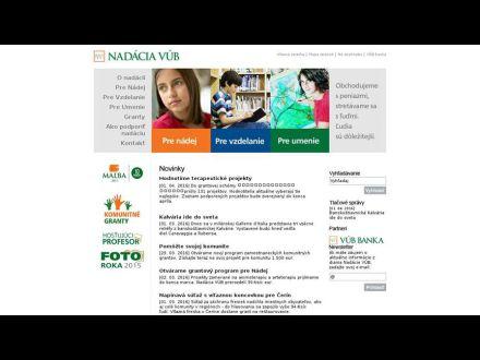 www.nadaciavub.sk