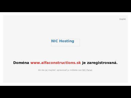 www.alfaconstructions.sk