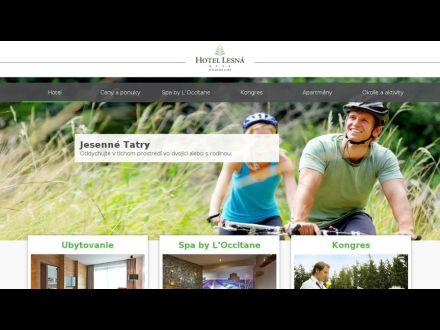 www.hotellesna.sk