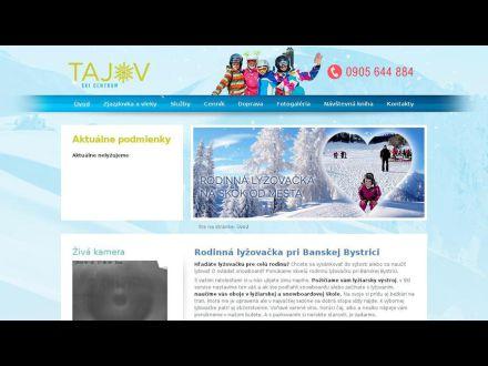 www.skicentrumtajov.sk