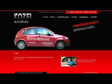 www.autoskolakozel.sk