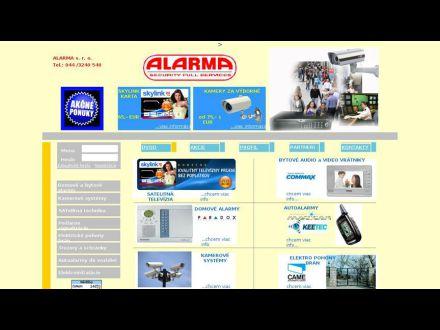 www.alarma.sk