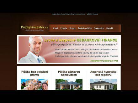 www.pujcky-investor.cz