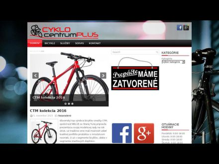 www.cyklocentrumplus.sk