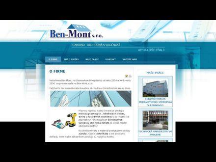 www.benmont.sk