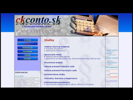 www.ckconto.sk