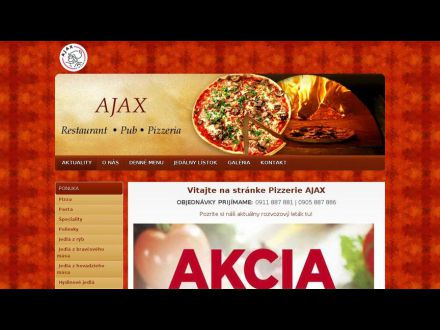 www.ajaxpizzeria.sk