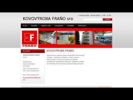 www.kovofrano.sk
