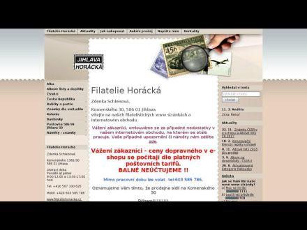 www.filateliehoracka.cz