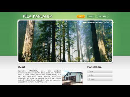 www.kaplanik.sk