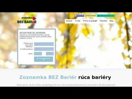 www.zoznamkabezbarier.sk