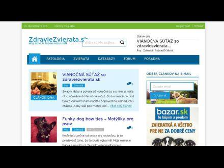 www.zdraviezvierata.sk