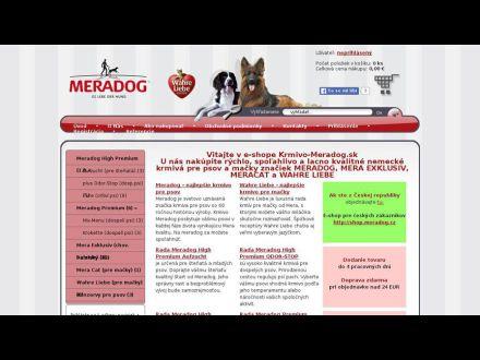 www.krmivo-meradog.sk