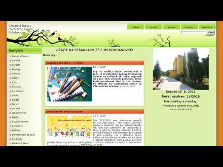 www.zsbohdanovce.edupage.sk