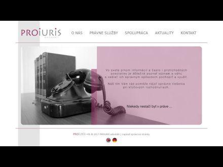 www.proiuris.sk