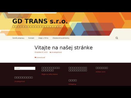 www.gdtrans.sk