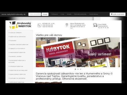 www.nabytokhrubovsky.sk