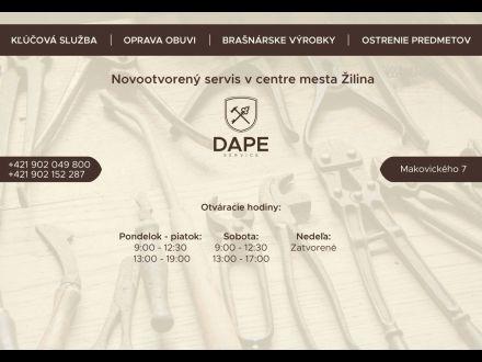 4dac84c43 DAPE Service Kľúčová služba & Oprava obuvi, 010 01 Žilina, 0910 565 ...