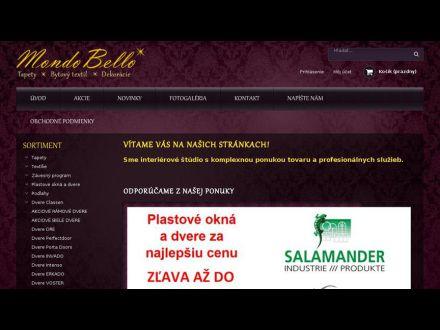 www.mondobello.sk