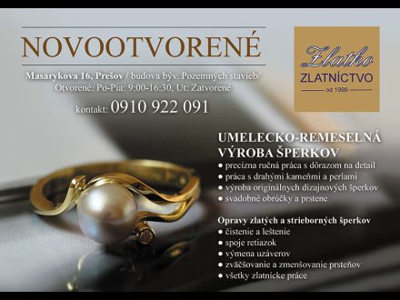 c89eaed96 Zlatníctvo ZLATKO, 080 01 Prešov, 0910 922 ...